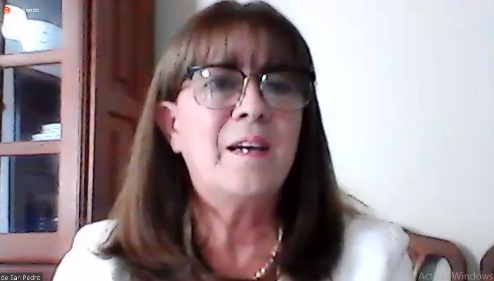 Eugenia de San Pedro, decana de la UNPA UACO. FOTO: CAPTURA DE PANTALLA