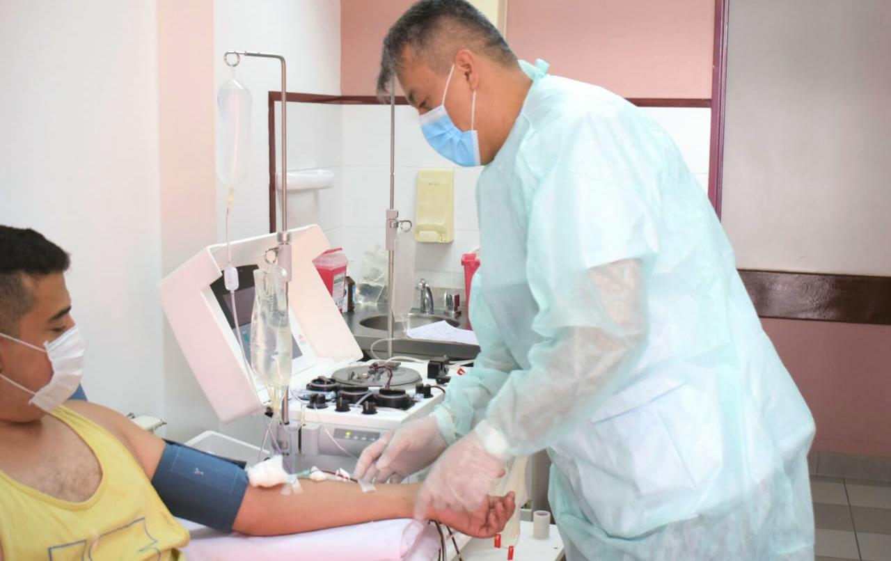 La donación de plasma se lleva a cabo en la Liga de Fútbol. FOTO: ARCHIVO