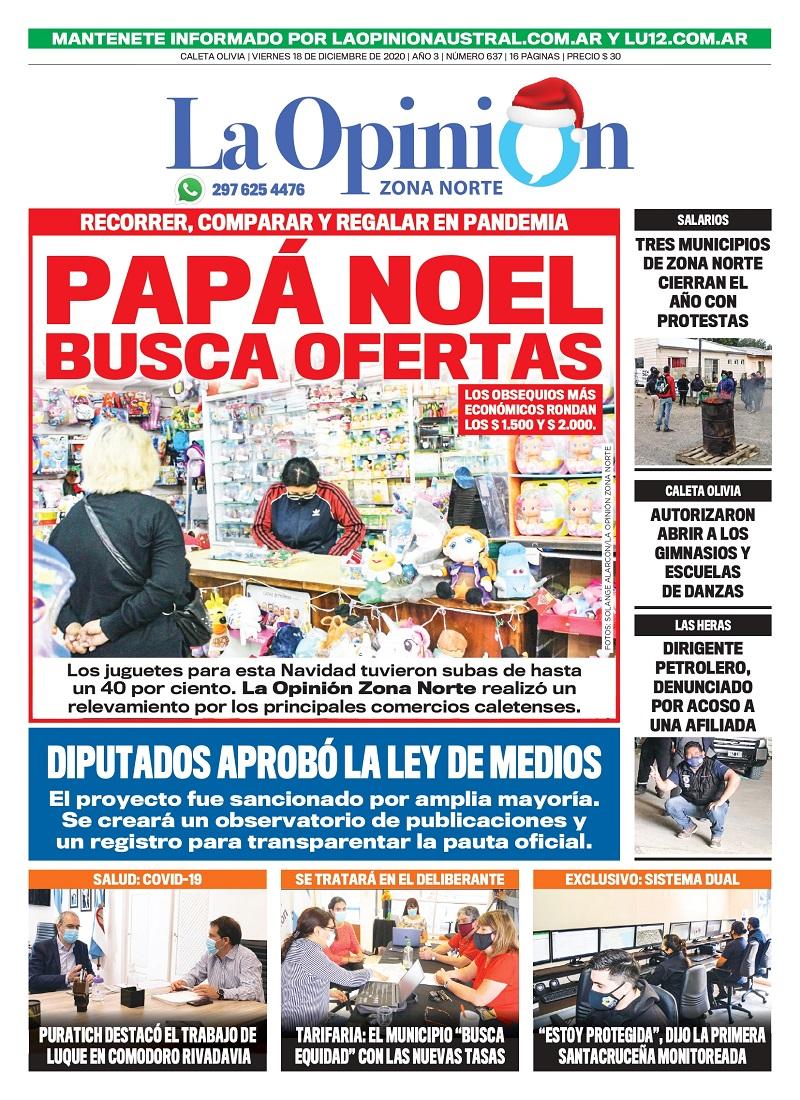 """Municipio de Caleta Olivia busca """"equidad"""" con las nuevas tasas"""