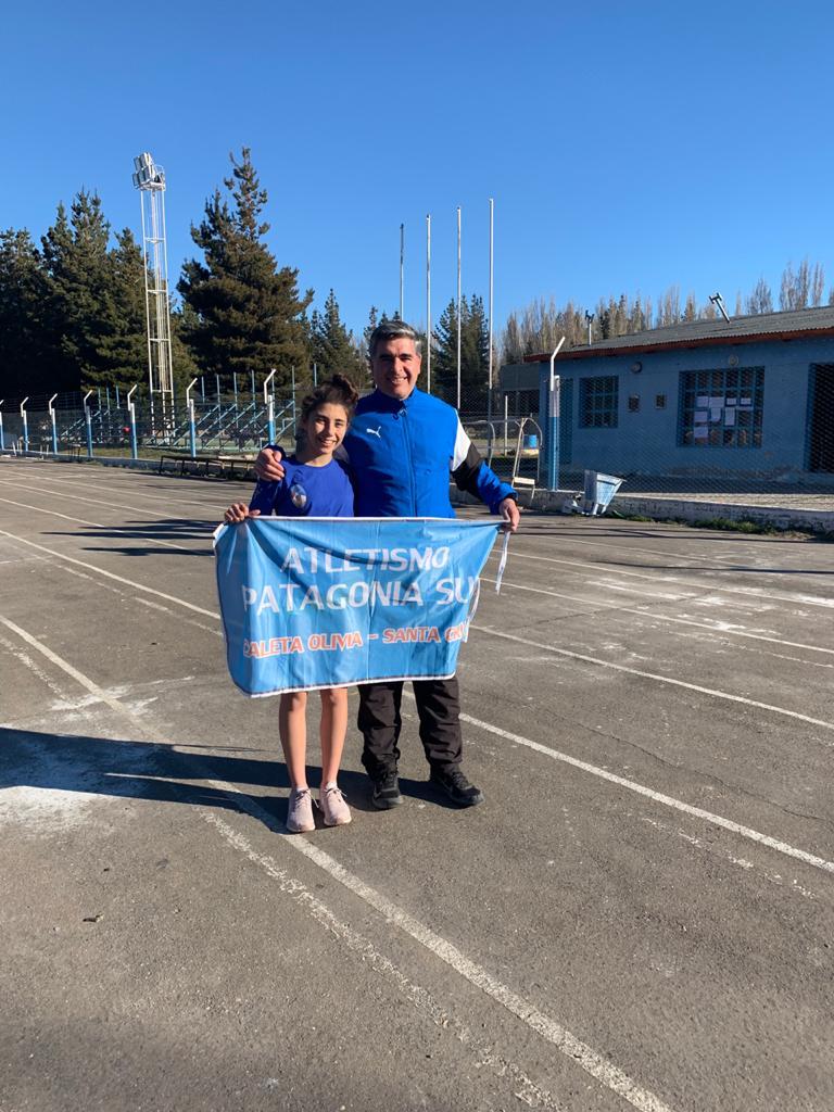 Agustina Tarifa, junto a Daniel Fuentes en los Juegos de la Araucanía 2019.
