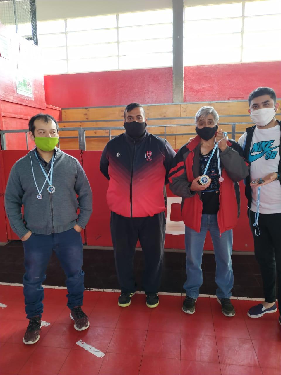 Jorge Ocampo, Marcelo Cárdenas, José Báez y Matías Campeón. Foto: José Silva / La Opinión Austral