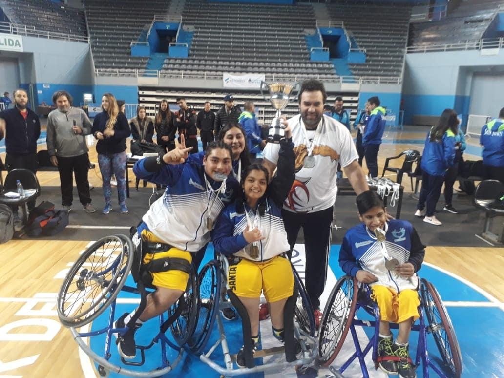 Santa Cruz, campeona en Básquet en silla de ruedas en los Juegos Nacionales Evita 2018. FOTO: ARCHIVO