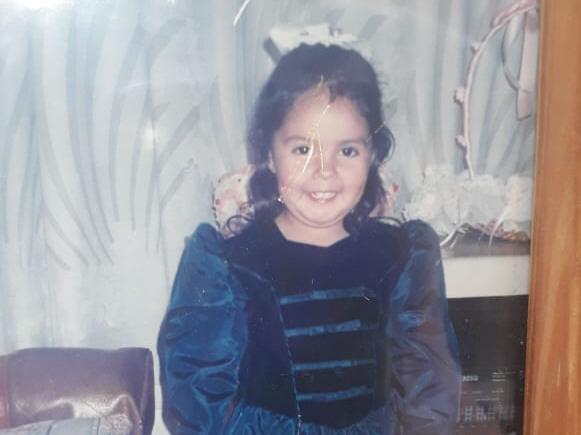 Nadia cuando tenía cuatro años, la misma edad que Nahiara.
