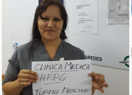 Sandra Barría, enfermera del turno noche del área Covid.