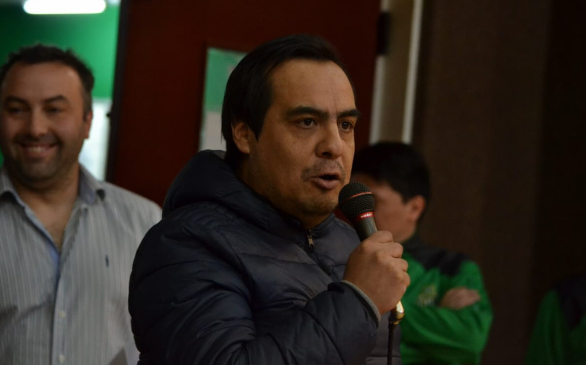 Roberto 'Tito' Velásquez, presidente de Boxing Club, se sumó al mensaje concientizador.