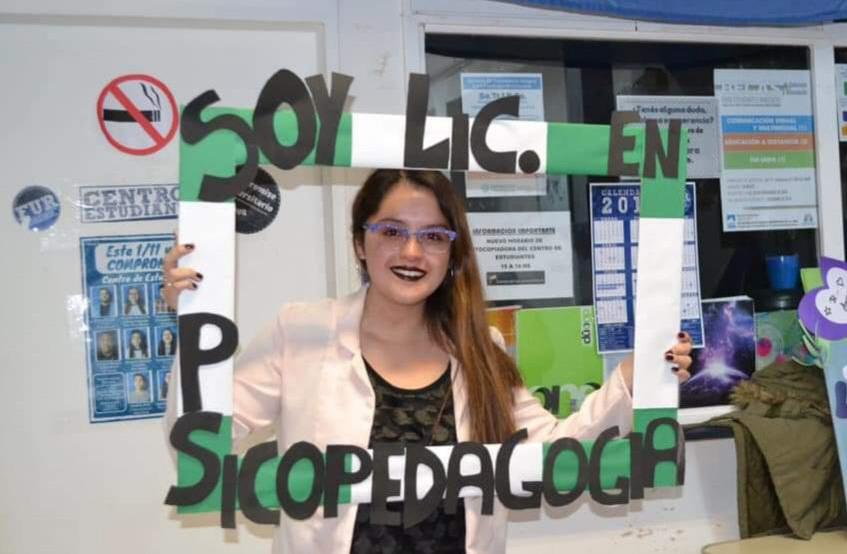 Camila Oyarzo, becada que realizará investigación de psicopedadogía.