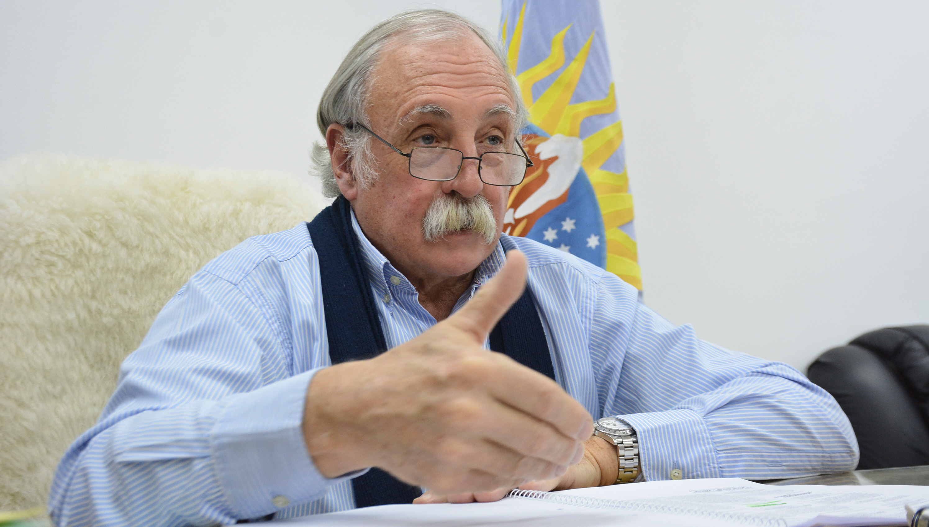Javier De Urqunza, presidente del Consejo Agrario Provincial. Foto: José Silva/La Opinión Austral