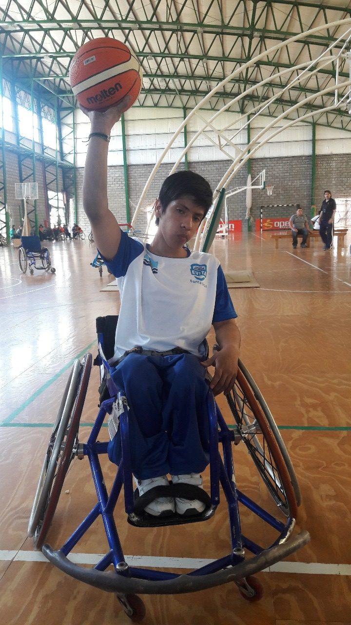 Luciano Andrade en su primera participación en los Juegos Evita.