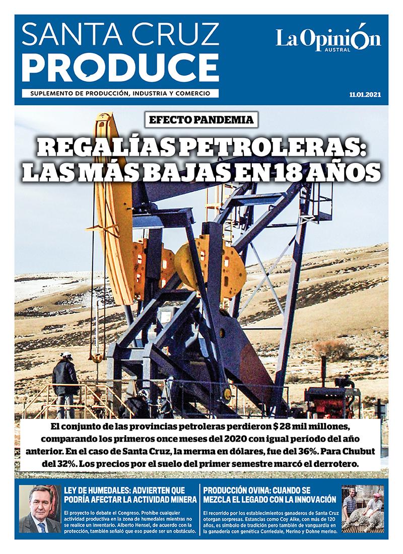 Regalías petroleras: las más bajas en 18 años