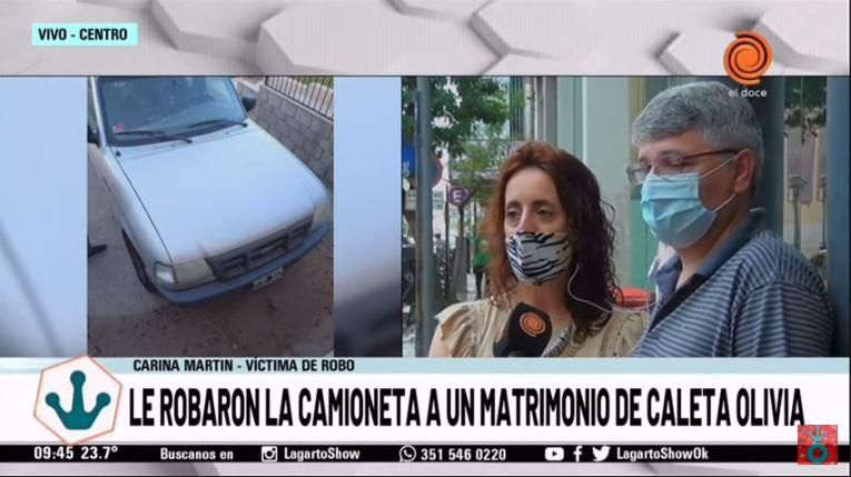 Carina y Claudio fueron entrevistados en vivo por un programa de televisión cordobés.