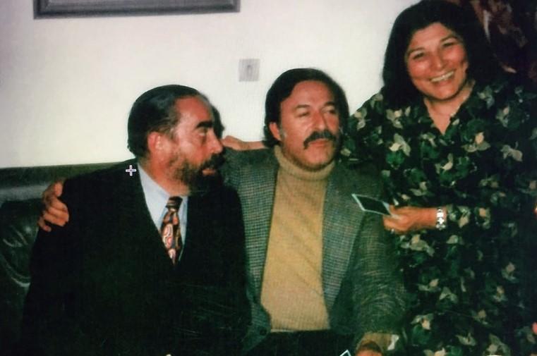 Armando Tejada Gómez, Cesar Isella y Mercedes Sosa.