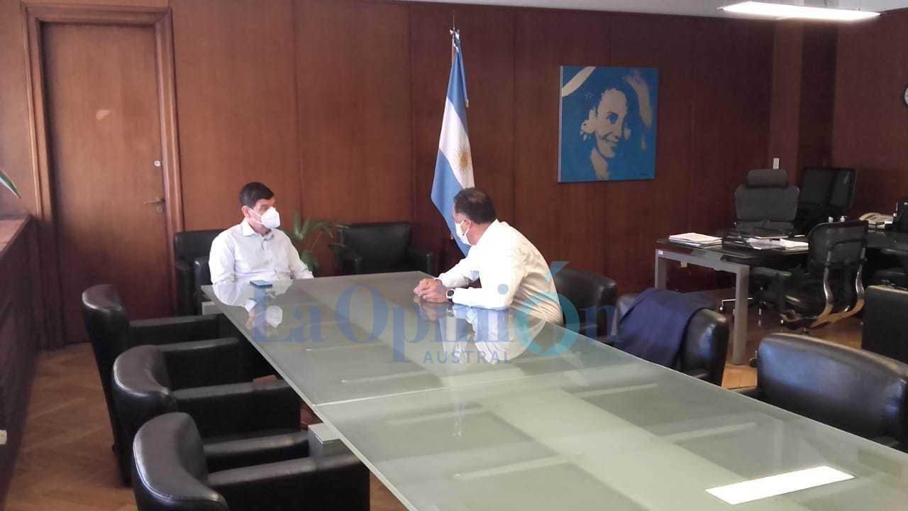 El vicegobernador Quiroga reunido con elsecretario de Calidad de Salud, Arnaldo Medina