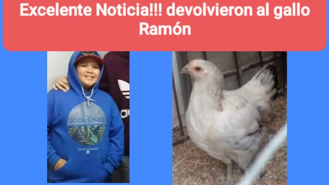 Ciro, el dueño de Ramón, el gallo que permaneció secuestrado por algunas horas despertando la alerta en amigos y conocidos.