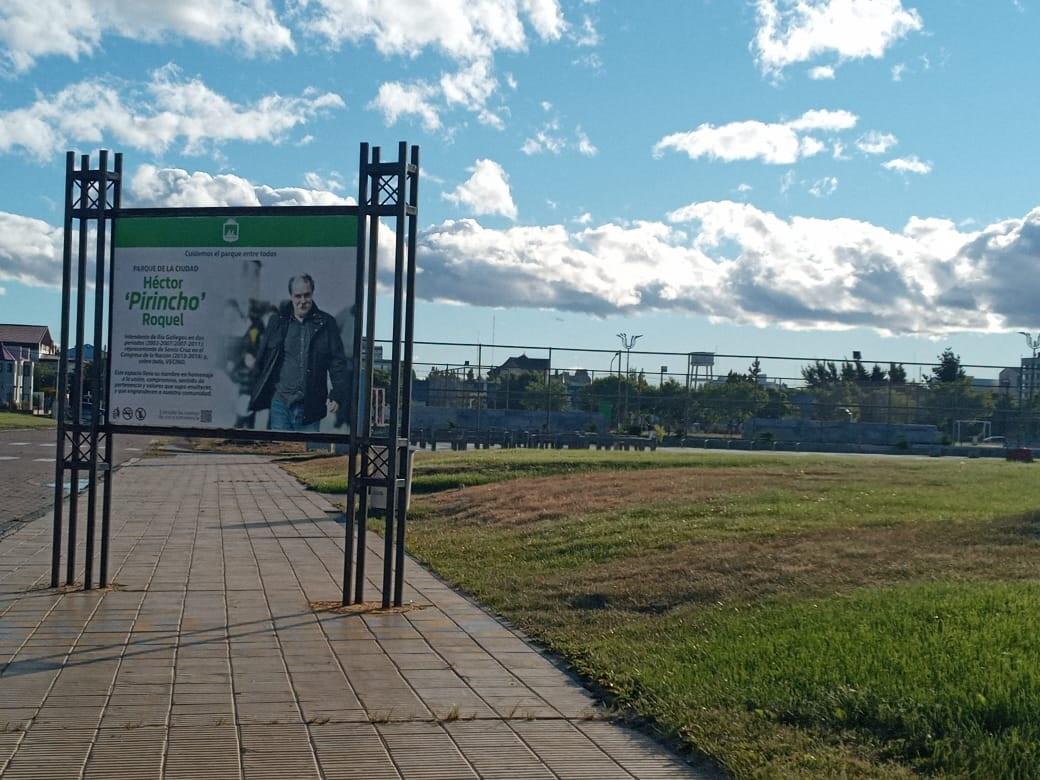 Parque recreativo en Río Gallegos. FOTO: MIRTA VELÁSQUEZ/LA OPINIÓN AUSTRAL