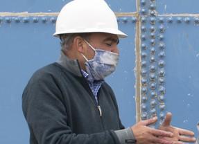 Nöel Patt, ingeniero de la planta de ósmosis inversa.