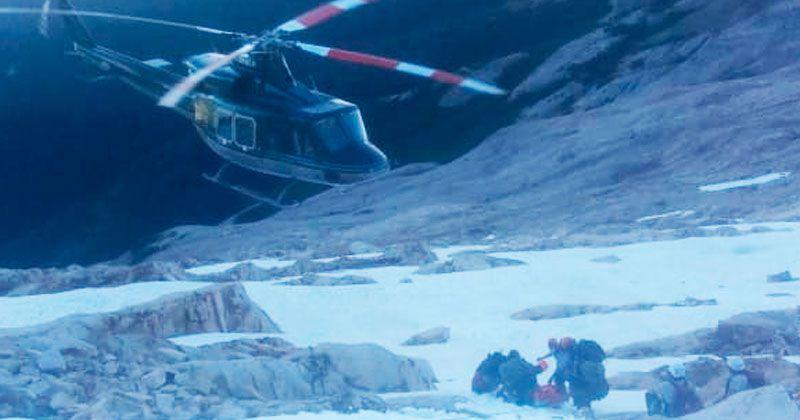 El helicóptero no pudo aterrizar, pero el operativo resultó exitoso. FOTO: EL CORDILLERANO