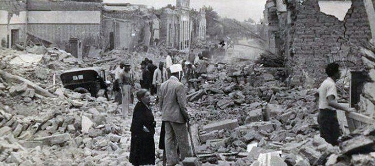 Los escombros luego del terremoto que dejó estragos en San Juan en el 1944.