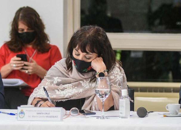 María Cecilia Velázquez, presidenta del Consejo de Educación.