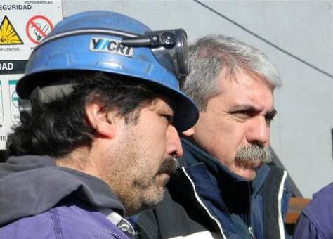 El interventor destacó el trabajo de los mineros.