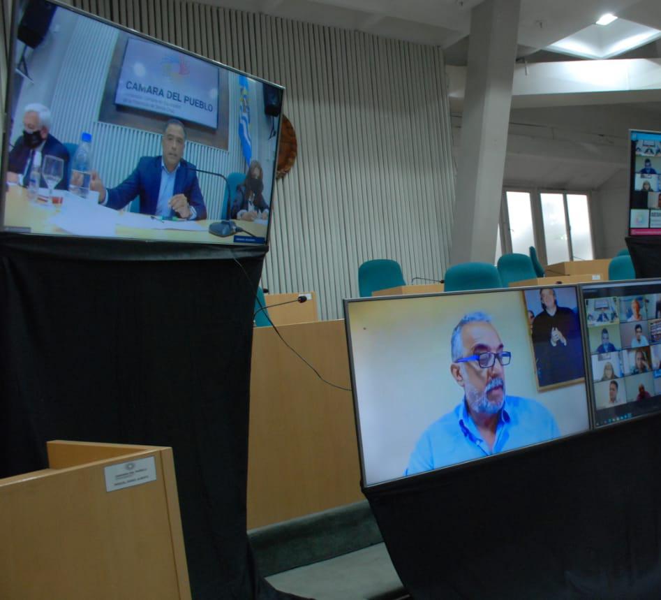 """Sesión preparatoria. Diputados analizan sistema """"dual"""" para lo que resta del año. FOTO: HCDSC"""