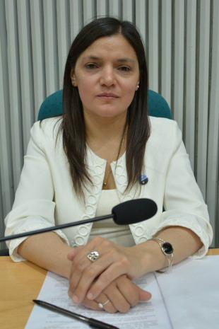 La diputada de Río Turbio, Karina Nieto es la vicepresidenta 1ra. Foto: José Silva/La Opinión Austral