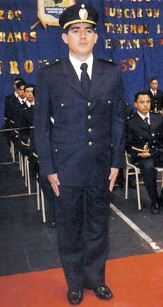 Jorge Sayago cuando se recibió. FOTO: LA OPINIÓN AUSTRAL