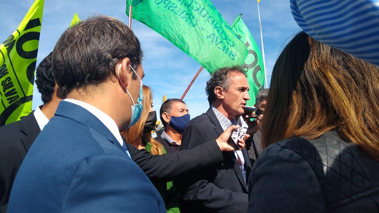 Gabriel Katopodis, ministro de Obras Públicas de la Nación en rueda de prensa. (FOTO: LA OPINIÓN ZONA NORTE)