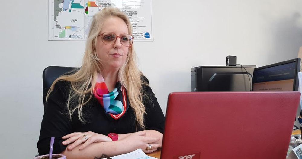 La subsecretaria de Pesca de Santa Cruz, Lucrecia Bravo