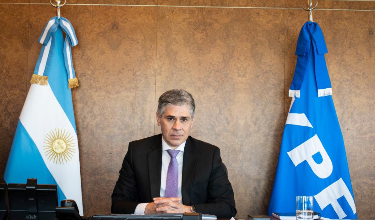 Pablo González, presidente de la petrolera de bandera nacional YPF.