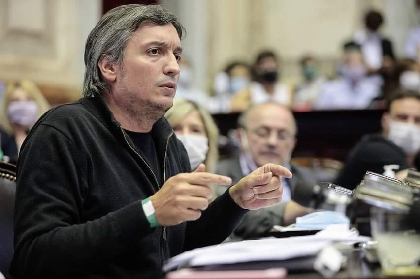 Máximo Kirchner, presidente del bloque del Frente de Todos.