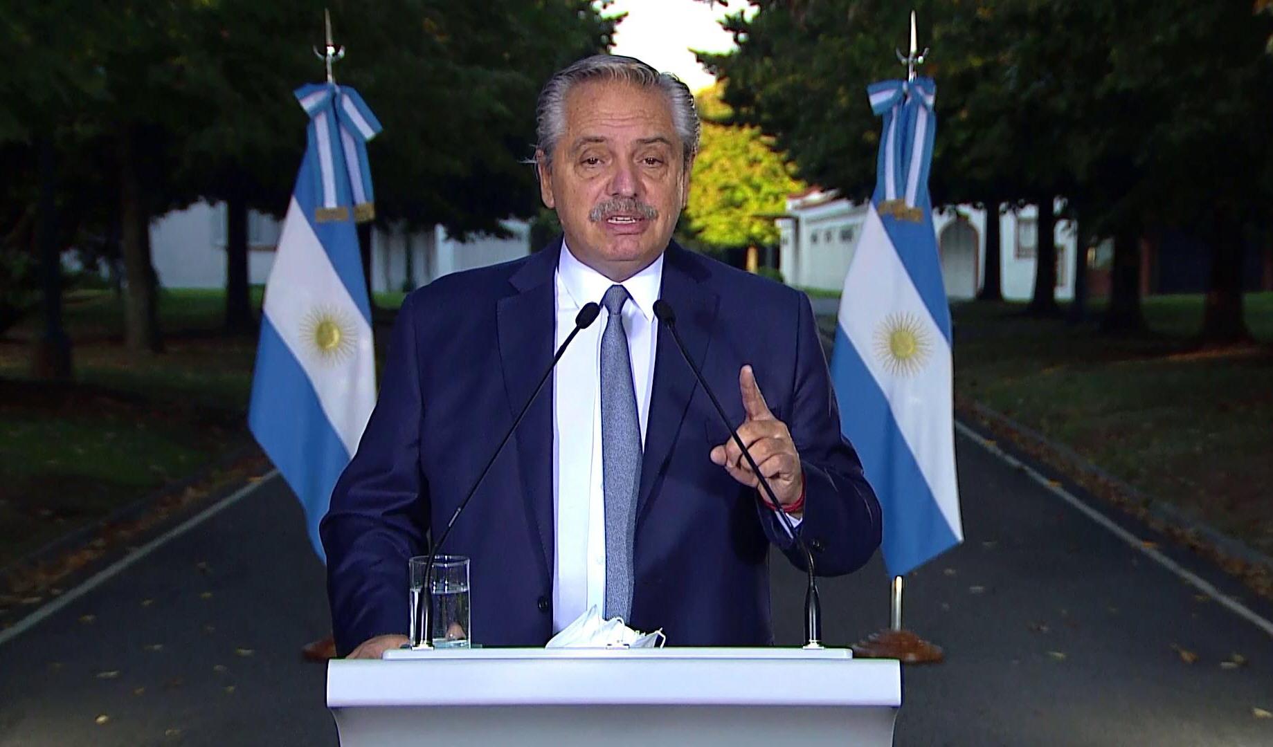 Alberto Fernández pidió el acompañamiento de la sociedad y de los gobernadores.