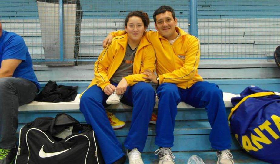 Julieta junto a Eduardo 'Chino' Aguilar, a quien considera uno de sus mejores entrenadores.