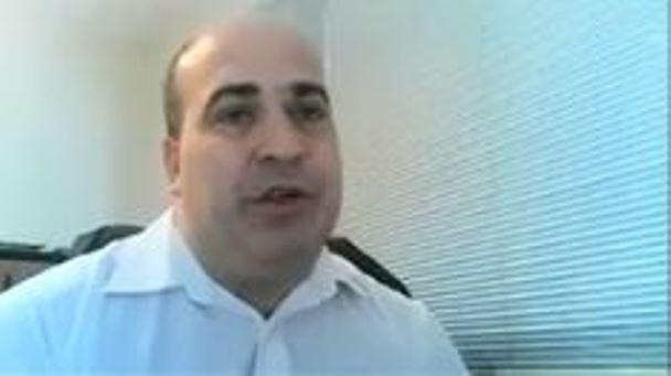 Elián Santiago Smith, durante su entrevista laboral a través de Zoom.