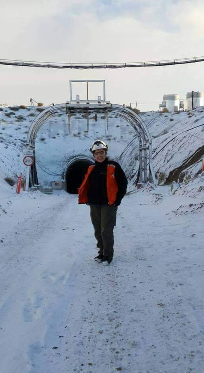 La minera santacruceña en una jornada laboral. FOTO: GENTILEZA A.A.