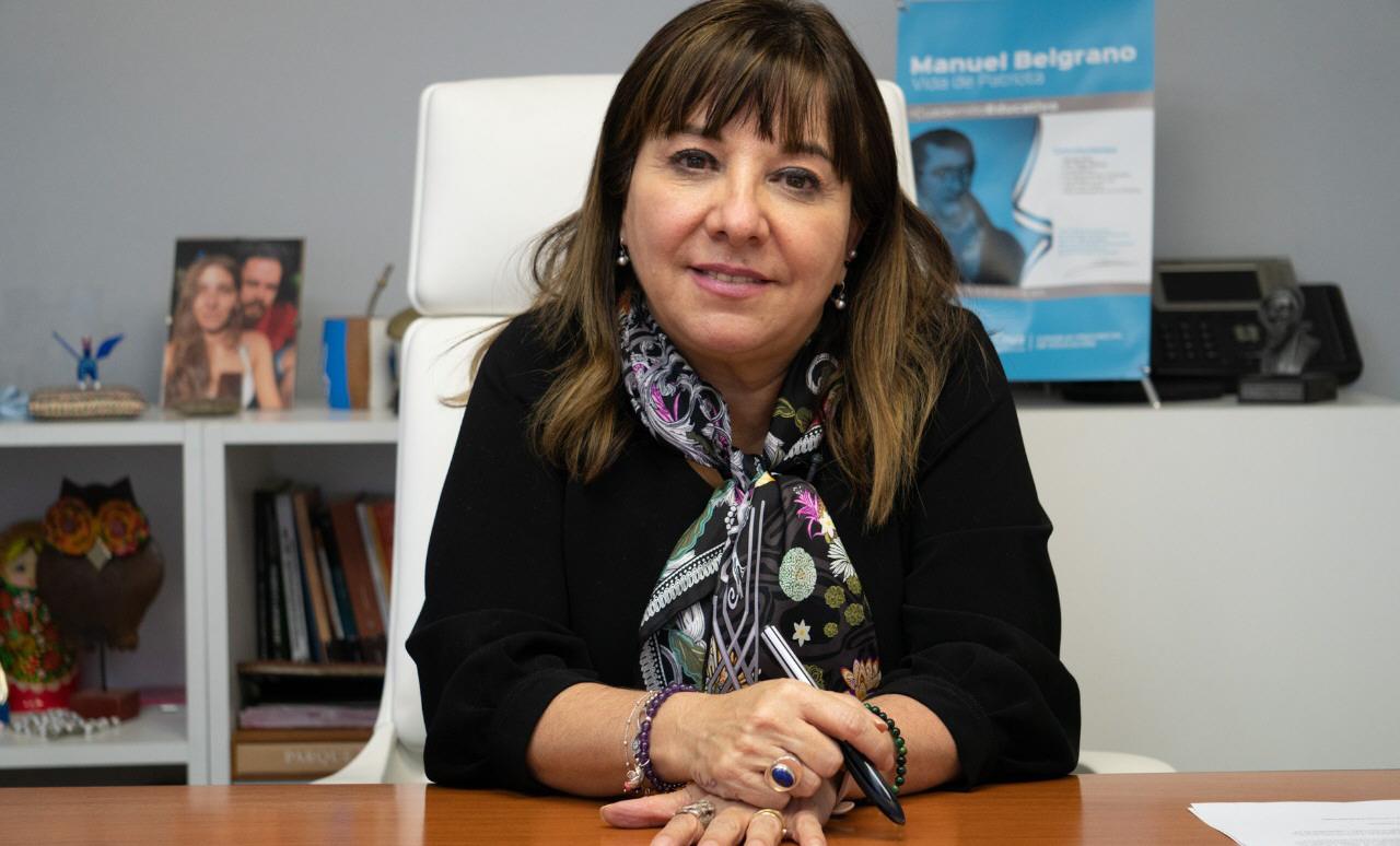 Cecilia Velázquez, presidenta del Consejo Provincial de Educación.