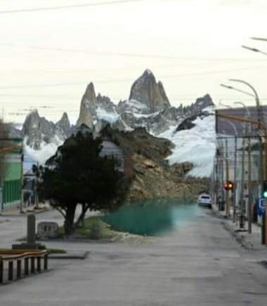¿Un cerro nevado al final de la avenida San Martín? Ingenio popular