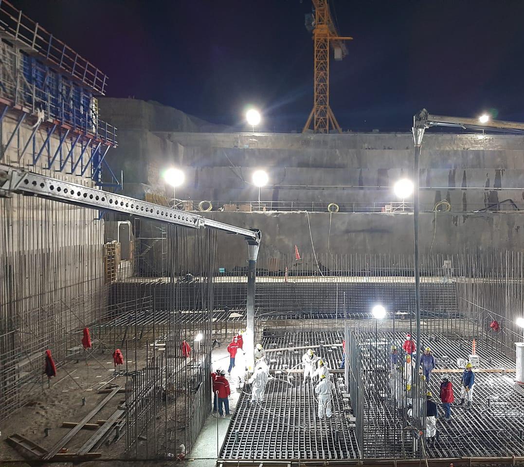 Una de las últimas imágenes tomadas de la obra de las represas. La Néstor Kirchner se encuentra en un 25%, mientras que la Jorge Cépernic en un 27%. FOTO: REPRESAS PATAGONIA.