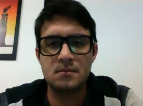 Nicolás Escobar, referente de Inquilinos Santa Cruz.