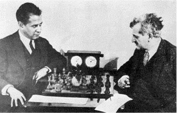 Capablanca y Lasker.
