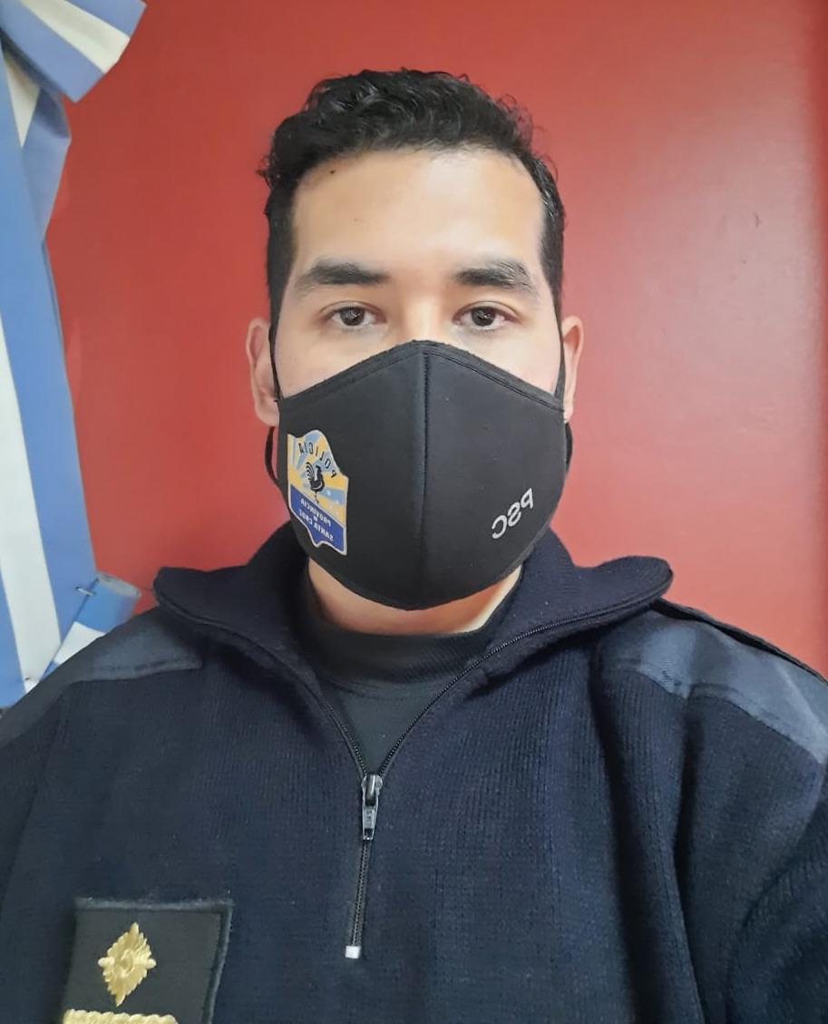Jorge Mayorga, jefe de Cuartel de Bomberos caletense