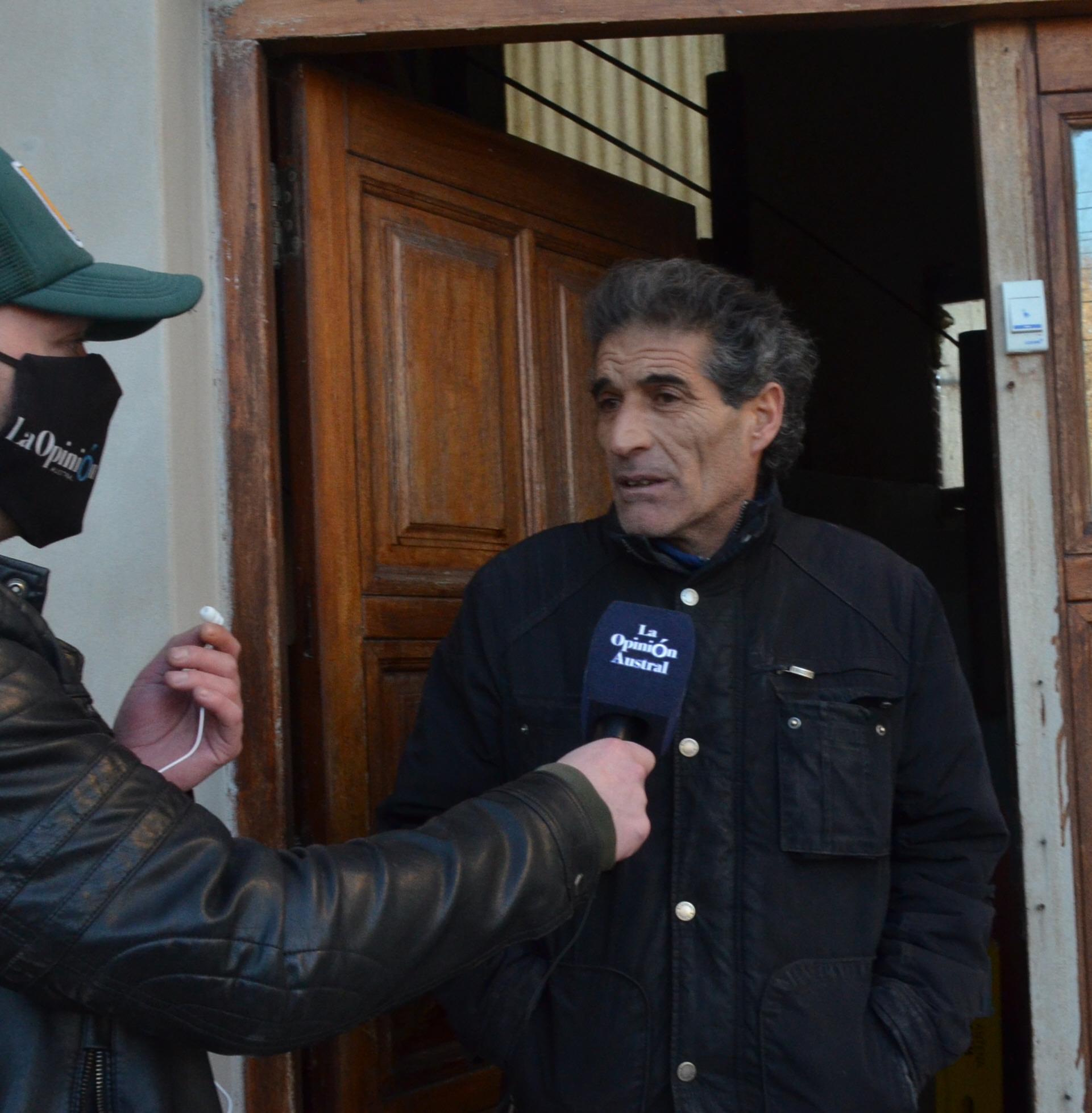 Inocencia. 'No tengo miedo de ir preso', dijo Balado. FOTO: JOSÉ SILVA / LA OPINIÓN AUSTRAL