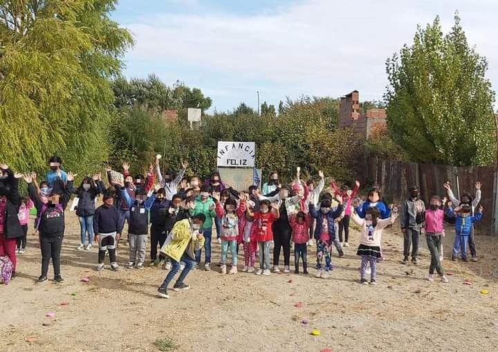 Alrededor de 90 niños participan de las distintas actividades del merendero. FOTO: CORTESÍA VIVIANA GONZÁLEZ