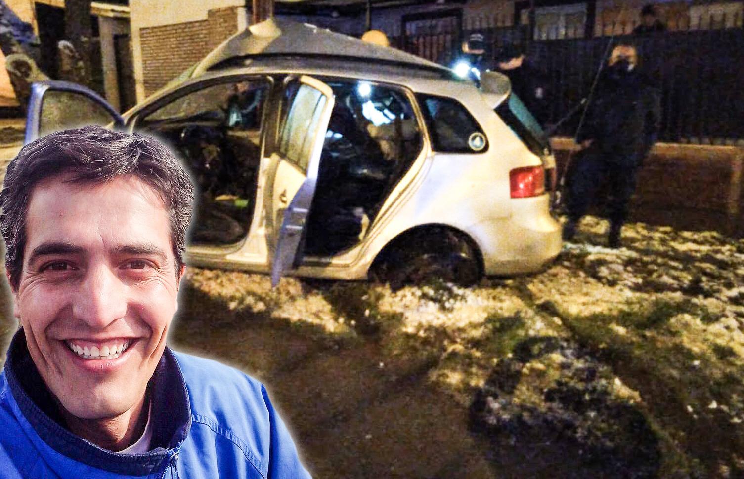 El automóvil de Paulo César Cabello, con el que trabajaba día a día.