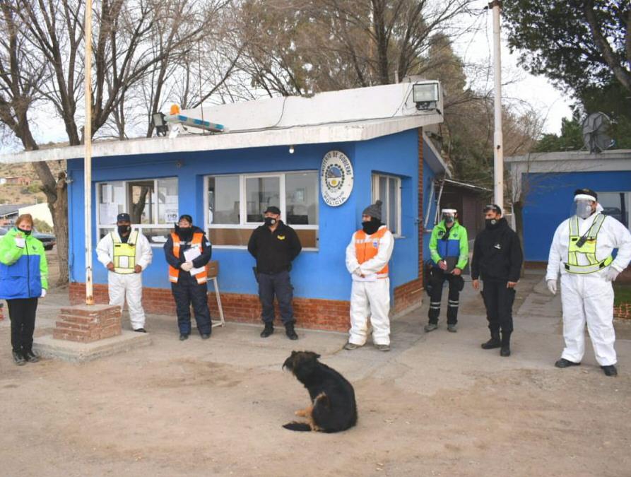 El control sanitario del personal policial y sanitario en Ramón Santos.