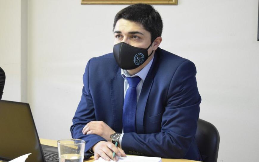 El ministro de Seguridad, Lisandro De La Torre. FOTO: JOSÉ SILVA/ LA OPINIÓN AUSTRAL
