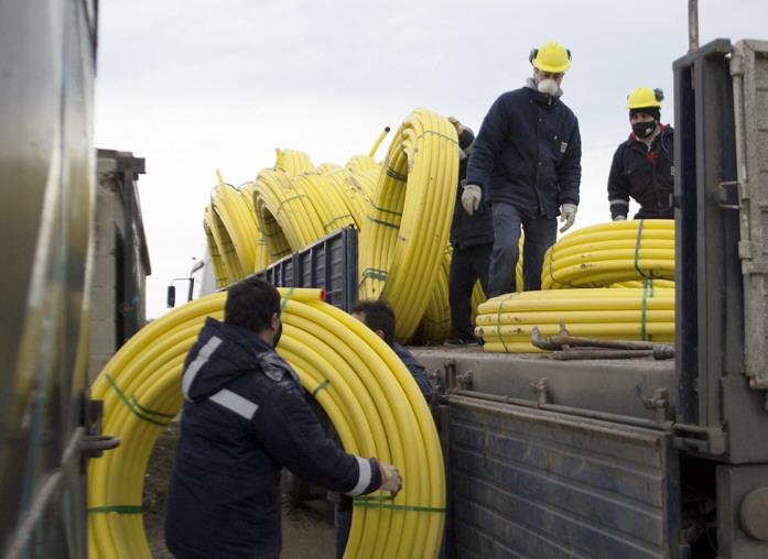 Los trabajos de redes de gas han sido una constante estos años.