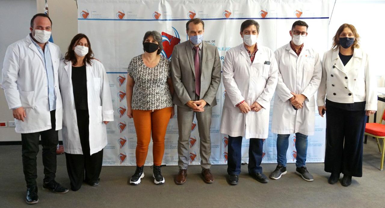 Dr. Lerena, Dra. Viviana Bruno, CH Fernanda González, CG Patrick Renard, Dr. Osvaldo Cordano, Dr. René Costa y Dra. Verónica De Cristófaro.