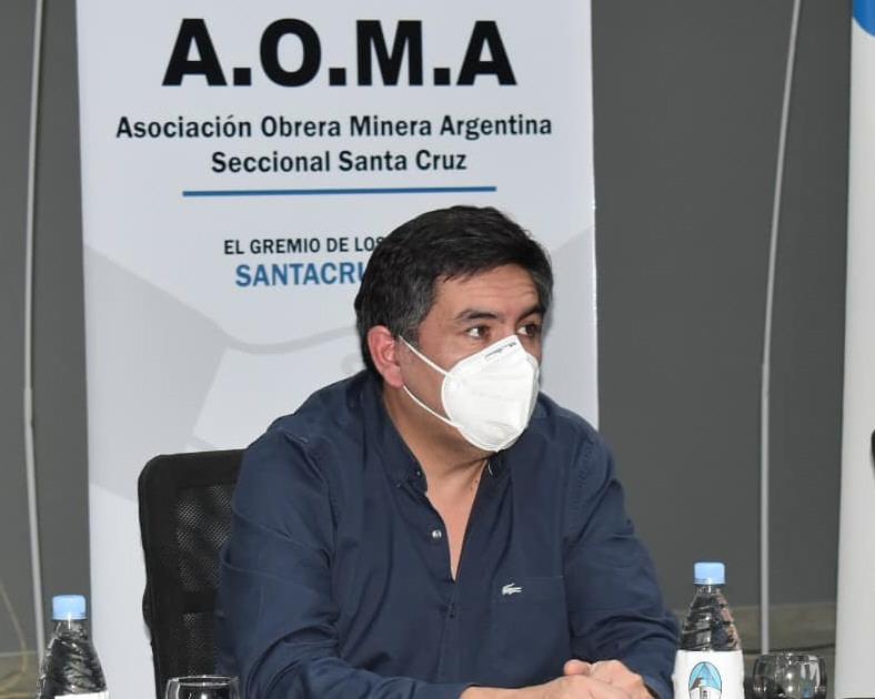 Javier Castro, secretario general de AOMA Santa Cruz.